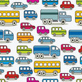 Cartoon cars seamless pattern. Royalty Free Stock Image