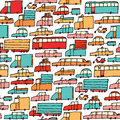 Cartoon cars seamless pattern background Stock Photo