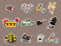 Cartoon casino stickers Royalty Free Stock Photography