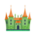 Cartoon castle architecture vector illustration Royalty Free Stock Photo