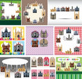 Cartoon castle card Stock Photography