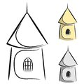 Cartoon castle tower eps on a white background Royalty Free Stock Photos