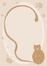 Cartoon cat background Stock Images
