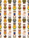 Cartoon cat family seamless pattern Stock Image