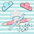 Cartoon cat, kitty characters. Royalty Free Stock Photo
