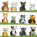 Cartoon cat set Royalty Free Stock Image