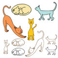 Cartoon Cat Set Royalty Free Stock Images
