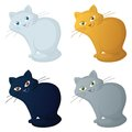 Cartoon cat, set Stock Images