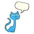 cartoon cat with speech bubble Royalty Free Stock Photo