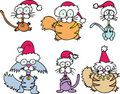 Cartoon Cats - Christmas Stock Photography