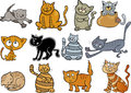 Cartoon cats set Royalty Free Stock Photo