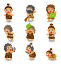 Cartoon Caveman icon set, Stock Photo