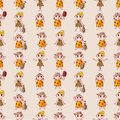 Cartoon Caveman seamless pattern Stock Photos