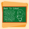 Cartoon Chalkboard With Space For Text Royalty Free Stock Photo