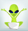 Cartoon_Character_ALIEN_032_CS5 免版税库存照片