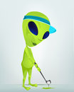 Cartoon_Character_ALIEN_044_CS5 Zdjęcia Royalty Free