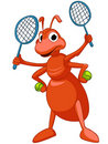 Cartoon Character Ant Stock Image