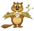 Cartoon Character Beaver Royalty Free Stock Photo