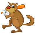 Cartoon Character Beaver Stock Image