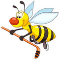 Cartoon Character Bee Stock Photography