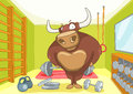 Cartoon Character Bull Royalty Free Stock Images