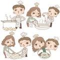 Cartoon character Chef naive cartoon