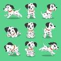 Cartoon character dalmatian dog poses