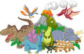 Cartoon character dinosaur Royalty Free Stock Photo