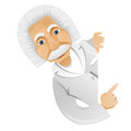 Cartoon character einstein isolated grey gradient background look out vector eps Stock Photos