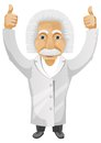 Cartoon character einstein isolated white background vector eps Stock Photos