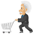 Cartoon character einstein isolated white background vector eps Royalty Free Stock Photography
