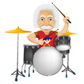 Cartoon character einstein isolated white background vector eps Royalty Free Stock Photos