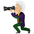 Cartoon character einstein isolated white background vector eps Stock Image