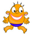 Cartoon character with funny face. image Stock Photography