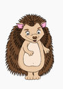 Cartoon character hedgehog cute Royalty Free Stock Photos