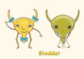 Cartoon character human bladder