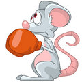 Cartoon Character Mouse Boxer Royalty Free Stock Photo
