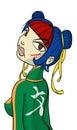 Cartoon character ninja gal Royalty Free Stock Photo