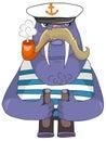 Cartoon Character Walrus Stock Image