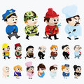 Cartoon characters collection of various of different professions Royalty Free Stock Photos