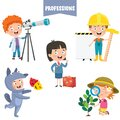 Cartoon Characters Of Different Professions Royalty Free Stock Photo