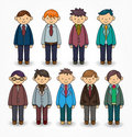 Cartoon charming young man icon Royalty Free Stock Photos