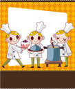 Cartoon chef card Royalty Free Stock Image