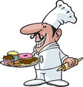 Cartoon chef high resolution jpeg layered files available Royalty Free Stock Image