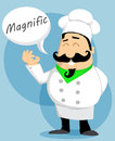 Cartoon chef vector illustration background Royalty Free Stock Photos