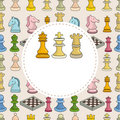 Cartoon chess card Stock Photography