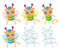 Cartoon chibi fantasy creatures the collection of monsters Royalty Free Stock Photos