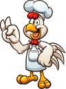 Cartoon chicken chef making the OK hand gesture