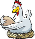 Cartoon chicken high resolution jpeg files available Royalty Free Stock Photography