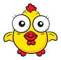 Cartoon chicken an illustration of a funny Royalty Free Stock Image